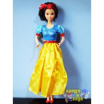 Boneca Barbie Princesa Branca De Neve Estrela Anos 90