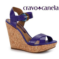 Sandália Plataforma Cravo & Canela 139801-1