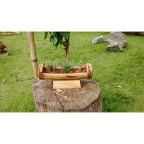 Painel ,luminária ,cercas E Vasos Em Bambu