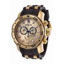 Relógio Invicta Pro Diver 17885 - Dourado Preto Masculino