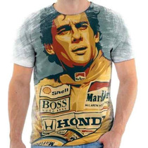 Camiseta Do Ayrton Senna Estampada - 8