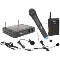Microfone Sem Fio Duplo Mão/lapela Uhf271 Skp