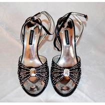 Bélíssimo Sapato Caparros Preto Luxo Feito À Mão 37 Novo