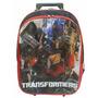 Mochila Escolar Transformers De Rodinhas - Pronta Entrega