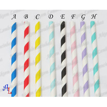 Canudos De Papel Vintage Colorido Varios Modelos - Festas