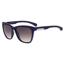 Óculos De Sol Calvin Klein Jeans Azul Marinho Lente