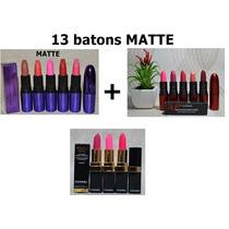 Kit 13 Batons Matte. Batom Mac E Chanel Rouge Coco