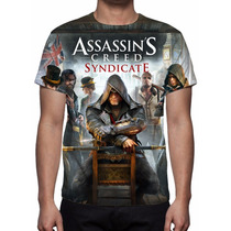 Camisa, Camiseta Game Assassins Creed Syndicate - 2015