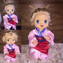Roupa Baby Alive Da Mulan E Princesas