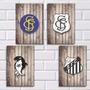 Placas Decorativas Mdf - Escudos Do Santos Fc