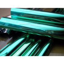 Insulfilm Espelhado Prata / Verde ( 1,00 X 1,52 ) Metro