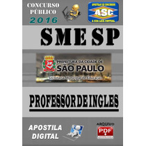 Apostila Do Concurso Sme Sp Professor De Ingles 2016