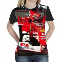 Camiseta Blusa Esportes Personalizada Formula 1 Feminina