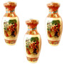 Vaso Cerâmica Esmaltado Importado Decorativo Presente