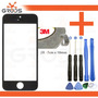 Tela Vidro Iphone 5 5c 5s Preto + Chave + Cola Uv+ Removedor