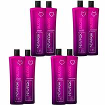 4 Kit New Fox Gloss Escova Progressiva 8x1000ml + 1 Brinde