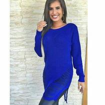 Mini Vest Blusas E Roupas Femininas Em Tricot Renda Crochê