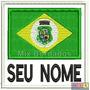 Bordado Termocolante - Bandeira Ceará Seu Nome 8x7,5cm