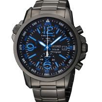 Relógio Seiko Solar Adventure Classic Ssc079 Crono Alarme