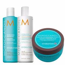 Moroccanoil Kit Shampoo, Condicionador E Mascara Hidratante