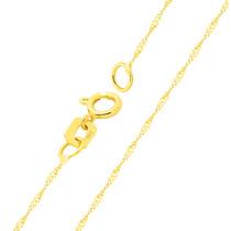 Corrente Cordão Colar De Ouro 18k Singapura Feminina 40cm