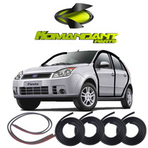 Kit Borracha Pingadeira E Porta Fiesta Hatch Sedan 03-13