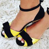 Atacado De Sapato Feminino Pedido 12 Pares Amarelo E Preto