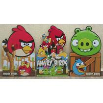 Kit 9 Angry Birds Display Totem Painel Decoração De Festa