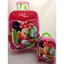 Kit Escolar Minnie Mouse Original : Mochilete + Lancheira