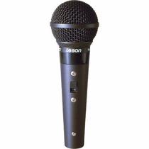 Leson Microfone Sm-58 B Preto Fosco Cardioide Cabo 5mts.