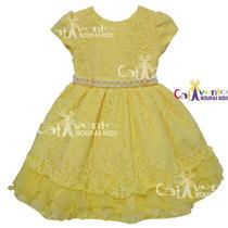 Vestido De Festa Infantil Rendado Luxo Com Tiara De Brinde