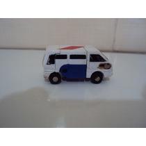Brinquedo Carrinho Miniatura Do Transformers Branco E Azul
