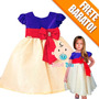 Fantasia Vestido Festa Infantil Princesa Branca De Neve Bebê