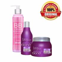 Bb Cream + Shampoo + Máscara Cabelo Loiro T9 ! Forever Liss