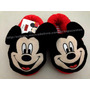 Pantufa Adulto Vermelha Mickey Mouse Disney - Tamanho 38/39