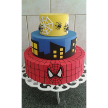 Bolo Fake Homem Aranha / Aniversário