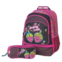 Mochila Escolar C/ Estojo Strawbemy Friends Chenson