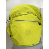 Mochila Kipling Original Modelo Seoul Color Honey Dew