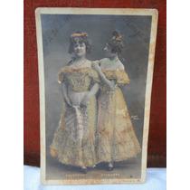 Cartão Postal De 1903: Relevo Nos Vestidos Frete Grátis