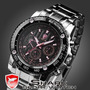 Relógio Shark Luxury Black Golden Sport Watch