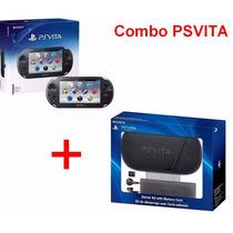 Psvita Combo Psvita + Starter Kit 6 Peças Original Novo