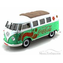 Miniatura Volkswagen Kombi Samba Verde Coca-cola 1962 1:18