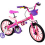Bicicleta Infantil Menina Aro 16 Top Girls Baby Nathor