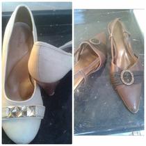 Sapatos Feminino Lote Com 10 Pares Brechó!!!
