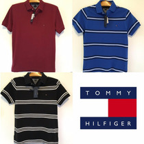 Camisa Polo Tommy Hilfiger Masculina Original Slim Fit Pique