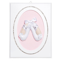 Quadrinho Decorativo Quarto Bebê Sapatilha Bailarina Strass
