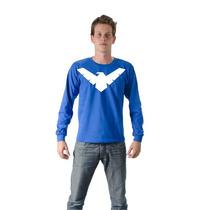 Camiseta Camisa Batman Nightwing Manga Longa