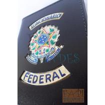 Porta Nota Cédulas Funcionário Federal Brasão República C56p