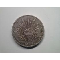 Moeda Mexico Guadalajara 8 Reales 1836 -p.j- Prata