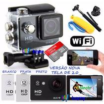Camera Sports Cam Prova Dagua Wifi X4000 +16g+ 25 Acessorios